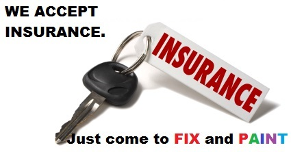Fix and Paint Autobody  acepts Car Insurance